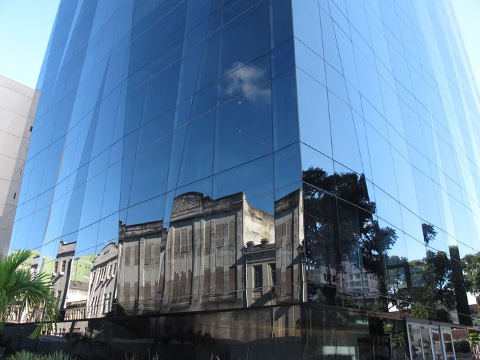 Espelho Architecture Building Exterior Built Structure Low Angle View Modern Skyscraper Outdoors No People Window City
