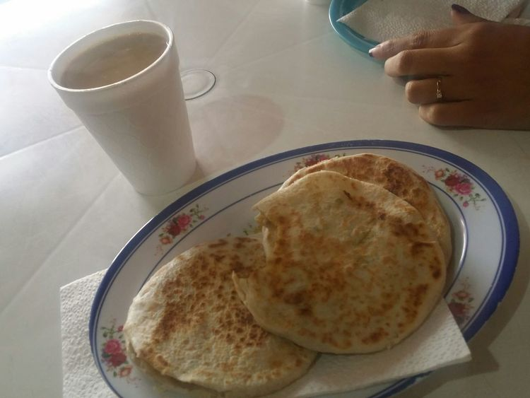 Gorditas de Harina Torreón, Coahuila Comarca Lagunera Drink Food And Drink Food Freshness Sweet Food Tea - Hot Drink Indoors  Close-up Homemade Ready-to-eat People Day One Person Adults Only Human Hand Adult