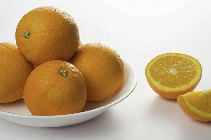 Citrus Fruit Close-up Day Food Food And Drink Freshness Fruit Healthy Eating Indoors  Lemon No People Orange Orange Color Round Shapes Snack Studio Shot White Background Yellow