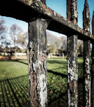 Football Pitch Goalpost Goalposts Railings Railings And Iron Textured  Textures And Surfaces Decay Decaying Structure Decaying Perspective Shadow
