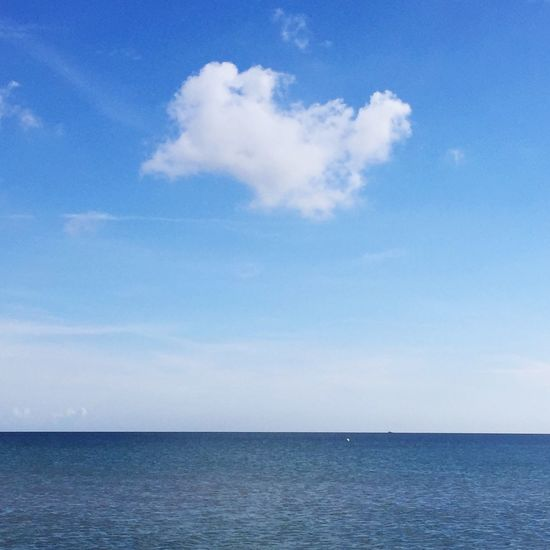 Beach baltic sea blue sky summer holiday lucky cloud