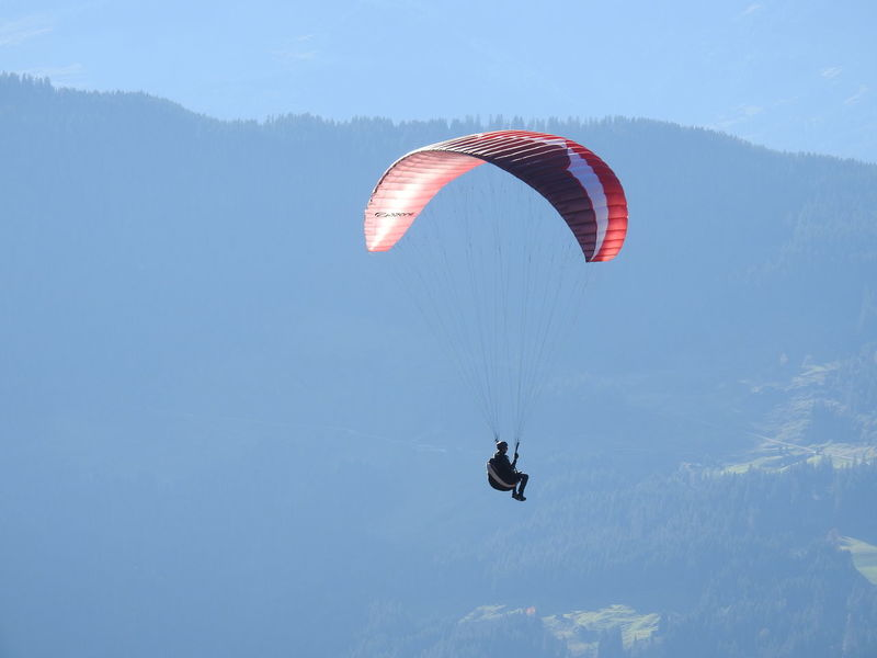 Adventure Danger Day Exhilaration Extreme Sports Flying Gliding Jumping Leisure Activity Lifestyles Low Angle View Men Mid-air Nature One Person Outdoors Parachute Paragliding Real People RISK Sky Skydiving Sport Stunt Stunt Person