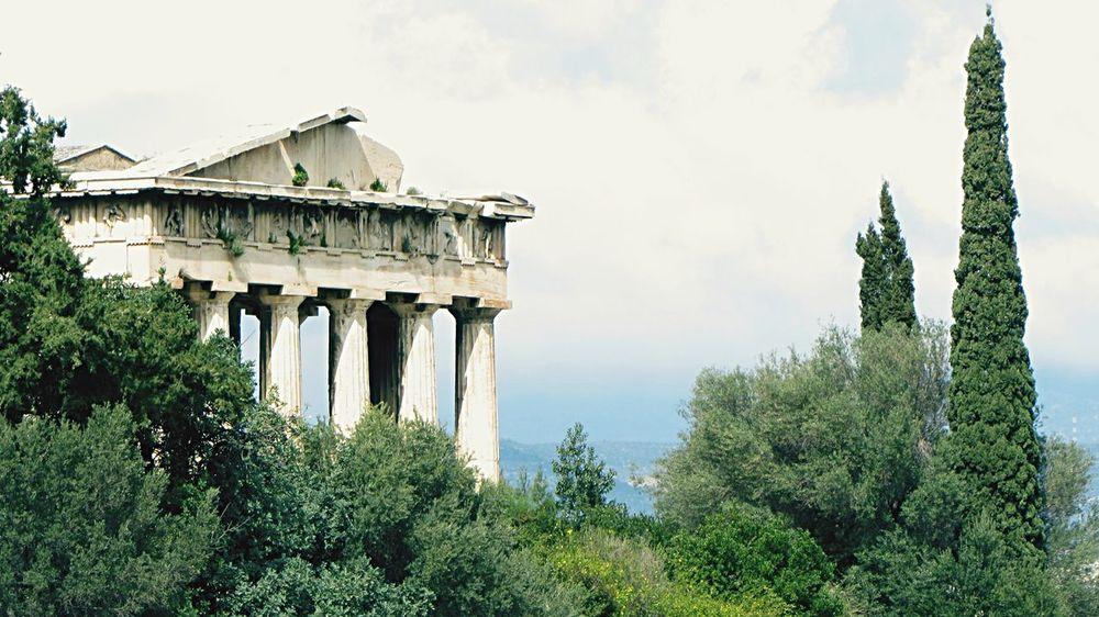 Hephaistaion Hephaistos Temple Tempio Di Efesto Agora Athens Atene
