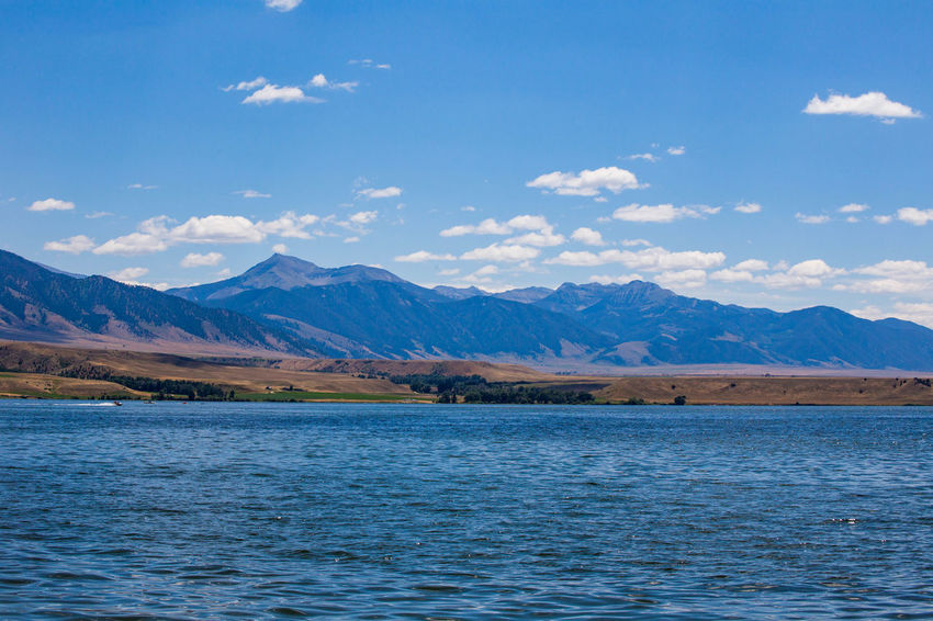 Beautiful sunny day at Ennis Lake in Montana, USA. Ennis Lake Ennis, Montana Montana Beauty In Nature Cloud - Sky Day Ennis Environment Idyllic Lake Mountain Mountain Range Nature No People Non-urban Scene Outdoors Range Remote Scenics - Nature Sky Tranquil Scene Tranquility View Into Land Water Waterfront