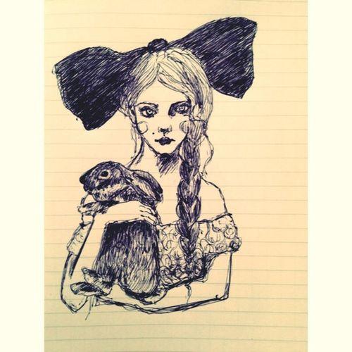 Drawing ArtGirlBunny