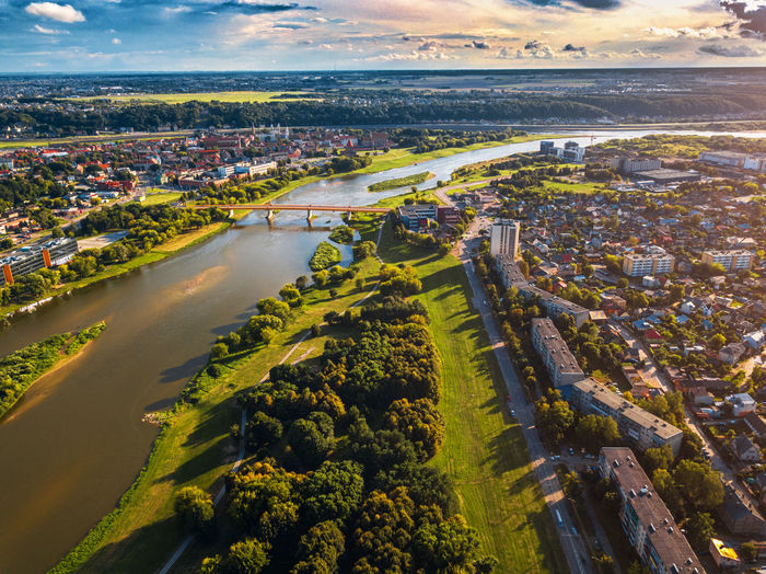 DJI X Eyeem Lietuva Lithuania Aerial View Architecture Building Building Exterior Built Structure City Cityscape Cloud - Sky Day High Angle View House Kaunas Landscape Nature No People Outdoors Plant Residential District Sky Town Transportation Water