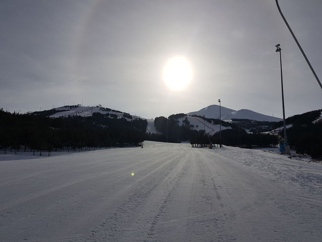 Palandoken mountain, Erzurum, Turkey Erzurum Skiing Snowboarding Beauty In Nature Building Exterior Cold Temperature Day Landscape Lens Flare Mountain Nature No People Outdoors Palandoken Scenics Ski Sky Snow Sun Sunrise Sway Hotel Tranquil Scene Tranquility Weather Winter