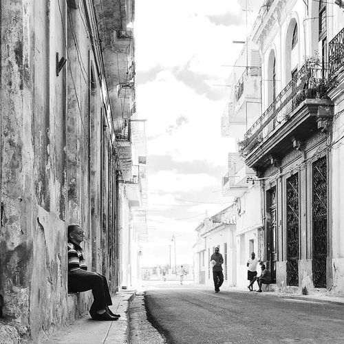 Lonely Havana Cuba Streetphotography Mobilephotography Blackandwhite RePicture Travel Snapshots Of Life IPS2015Story IPS2016Street