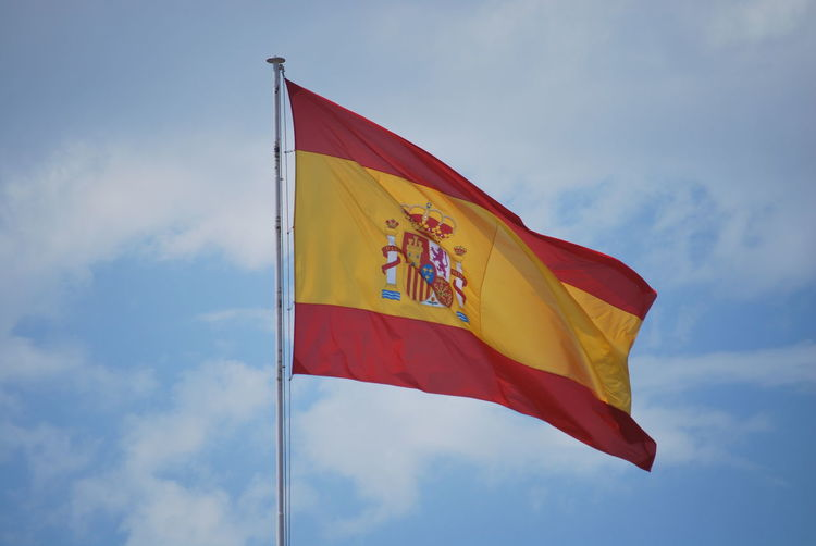 Barcelona Barcelona, Spain Catalonia Catalunya Cloud - Sky Day Flag Flags In The Wind  Low Angle View No People Outdoors Patriotism Sky SPAIN Unity Waving