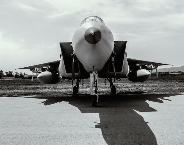 Air Force Aircraft Aviation Aviationphotography Bw Clear Sky Day Eagle F-15 Landscape Outdoors Runway View