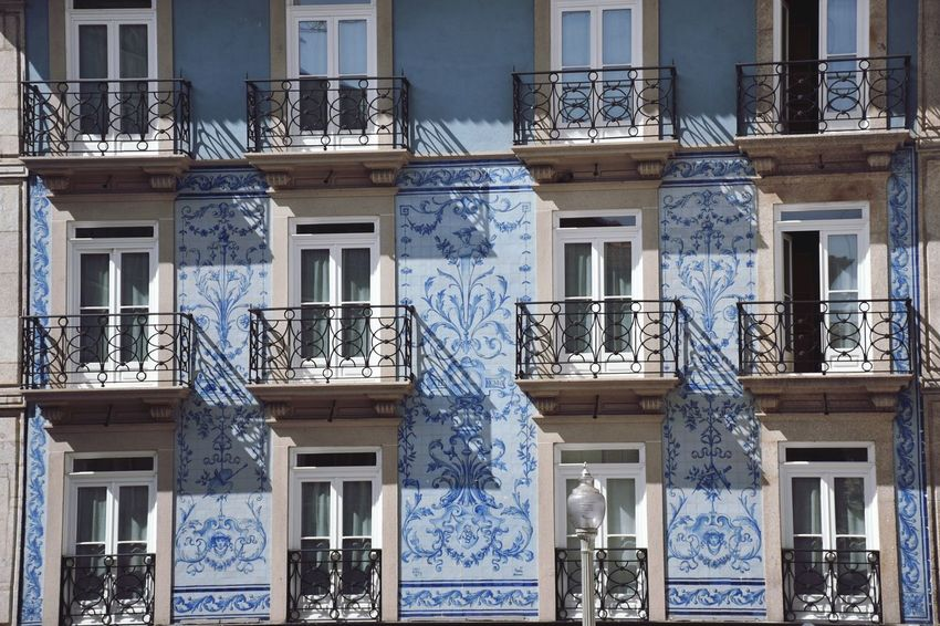 Architecture Window Built Structure Building Exterior Full Frame Day Low Angle View No People Outdoors Porto Portugal Colour Your Horizn