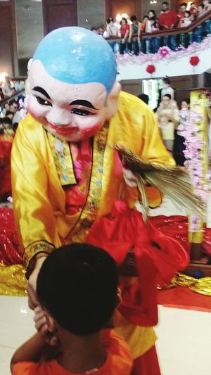 Apparently (and i found out only 3 days ago), this is the Big Headed Buddha Costume Chinese Culture Chinese New Year Singapore CNY CNY2017 Streetphotography Southeast Asia Singapore
