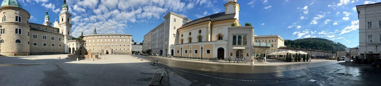 Salzburg Residenz Platz early on Sunday Morning Architecture Austria Baroque Architecture Built Structure Churches Cityscape Dom Festspiele Mozambique Peaceful Place Quiet Places Salzburg Salzburg Oldtown Sunshine