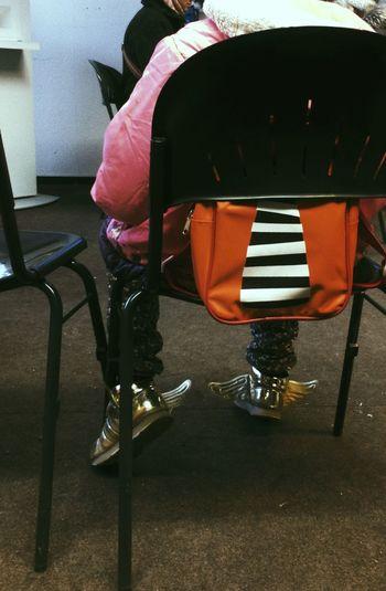 Kids Goldwingshoes Wing Shoes Gold Dreams Travel Children Child Kid Bureaucracy
