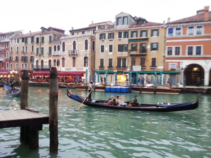 Gondola - Traditional Boat Canal Gondolier Architecture Travel Destinations Nautical Vessel Tourism Transportation Travel Building Exterior Gondola Wooden Post Outdoors Old Town Built Structure Day Water Moored Rowing Vacations
