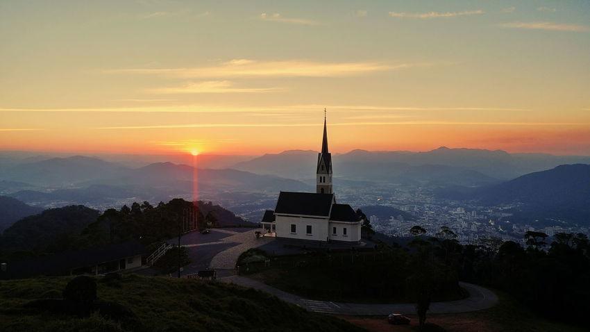 Chiesetta Alpina Faith Church Sky Sun Sunset City Monument