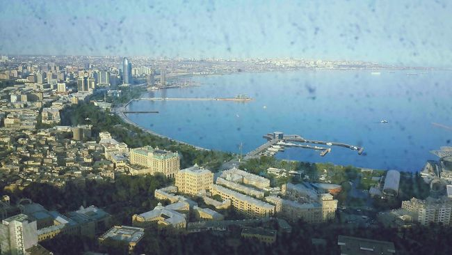 The dirty window or the dirty eyes? Azerbaijan Azerbaijanphptography Caucasus Caucasian Azerbaycan Cityscape Building Flametowers AlovQüllələri Caspian Sea Caspian View Baku City Cityview🌇 First Eyeem Photo
