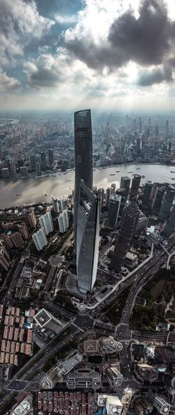 Architecture Building Exterior Built Structure City Cityscape High Angle View Shanghai❤ Sky Skyscraper Lost In The Landscape
