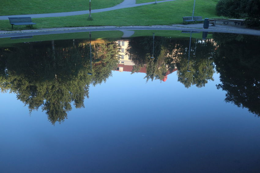Captured The Moment Norway ✌ Oslo Nature On Your Doorstep From My Neighborhood. Landscape Water Reflections Light And Shadow EyeEm Gallery Nofilternoedit Branches And Sky Urbanphotography Check This Out Showcase July 2016 Eyeem Market Oslo, Norway Water Reflections Angles And Views Fine Art Photography Architecture Reflections In The Water Landscape Reflection