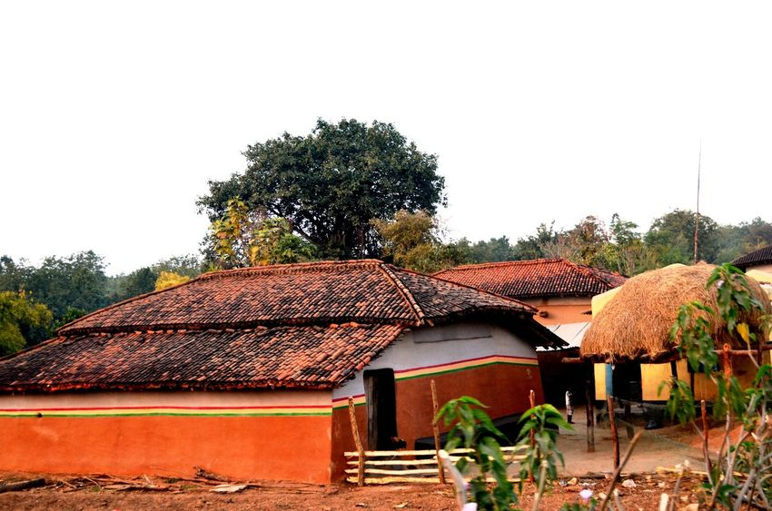 A house in rural place in India. Abandoned Architecture Beautyful Rural Hut Building Exterior Built Structure Clear Sky Culture Day House Hut Leading No People Obsolete Old Outdoors Residential Structure Roof Ruined Rural Scene Thatched Roof Wood