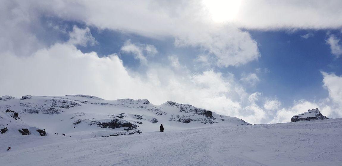 Snow Mountain Cold Temperature Winter Snowcapped Mountain Sky Landscape Cloud - Sky Dramatic Landscape Mountain Range Geology Majestic