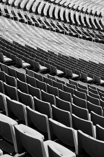 Empty chairs at stadium