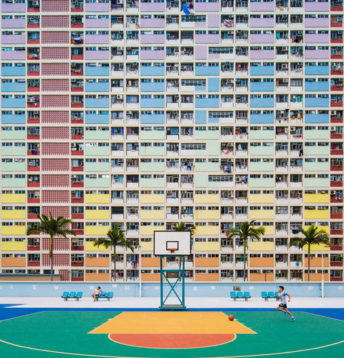Basketball Building Child Childhood Choi Hung Color Colorful Colors Decisive Moment Hk Hong Kong Hong Kong Building Movement Outdoor Photography Outdoors Playground Market Reviewers' Top Picks