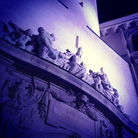 Sopron Sopron Hungary City Firetower Sculpture Tower Blue Lights