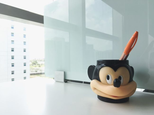 10 ways to Smile at work Indoors  No People Window Close-up Day Happy Smile Mickey Mouse Fun At Work Stressreliever Desk Office The Graphic City Colour Your Horizn Modern Workplace Culture Visual Creativity 10