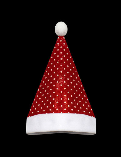 Close-up of christmas decoration against black background