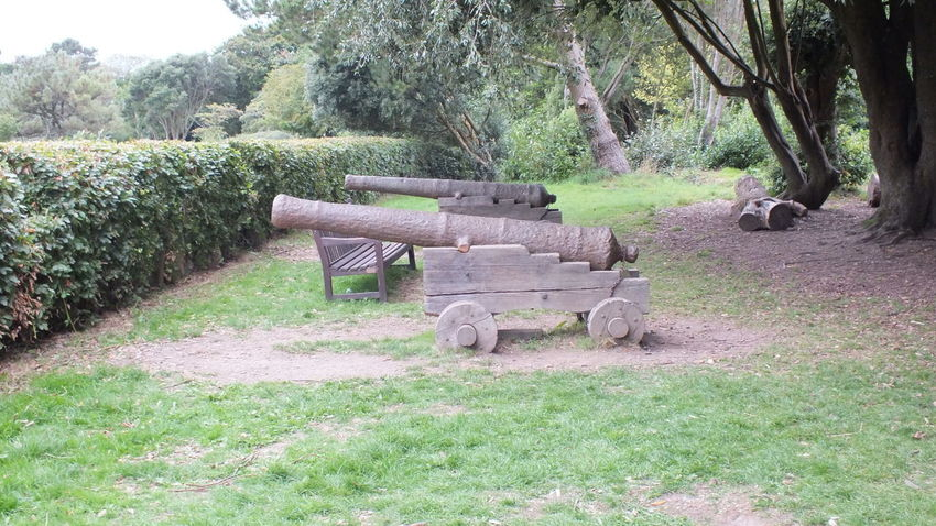 #cannon #weapon Day Field Grass Green Color Land Nature No People Outdoors Plant Tree
