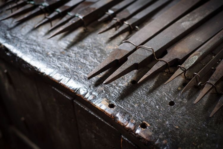 old metal file Metall Tools Blacksmith  Blacksmith Tools Old Metal Workplace File Old Metal Metal Industry Close-up Rusty
