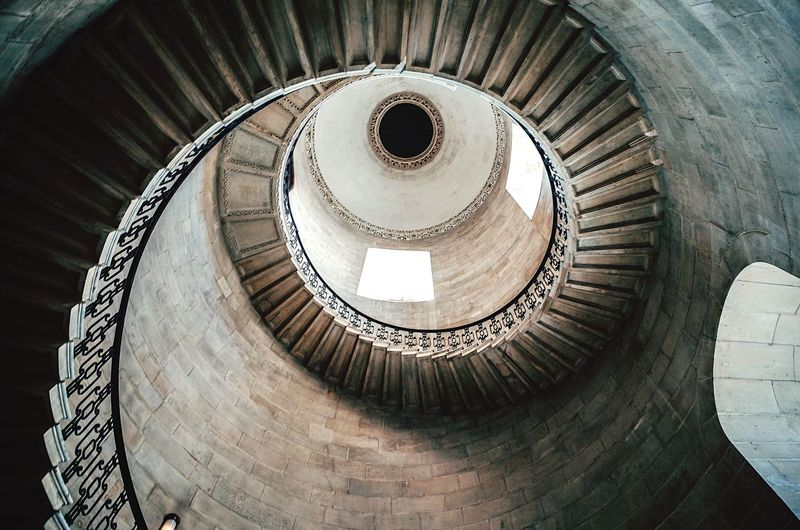 London Spiral Staircase Steps And Staircases Steps Spiral Stairs High Angle View Railing Architecture Spiral Staircase Stairs Built Structure Indoors  Directly Above No People Day EyeEm LOST IN London