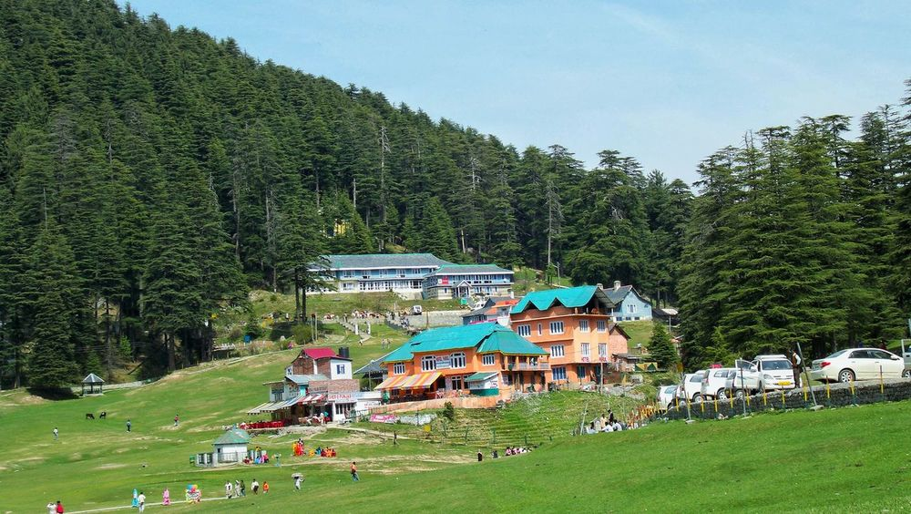 Khajjiar Dalhousie Nature Photography Travel Destinations Travel Photography Khajjiar Khajjiarlake Beauty In Nature EyeEm Tranquility Landscape Living With Nature Building Exterior Architecture No People Tree Grass Nature Sky Outdoors Day Scenics Pine Tree Pinaceae Mountain Tree