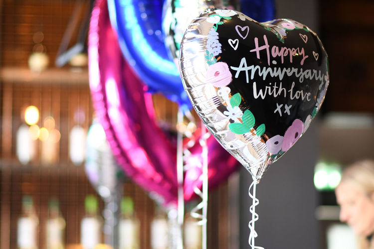 Anniversary Ballons Heart Balloon Heart Balloons Happy Anniversary With Love Foil Balloon Restaurant Message Congratulations Heart Shape
