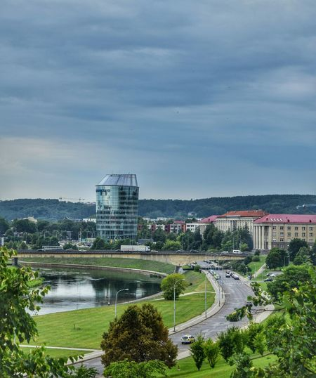 Cityscapes Relaxing Vilnius Europe River View Bridge Buildings Road Sky And Clouds Eye4photography  Summer ☀