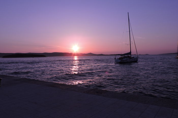 Croatia Chorwacja Hrvatska Sailboat Water Sky No People Summer Boat Colors Holiday Biograd Na Moru Sea Harbor Beautiful Traveler Travel Nofilternoedit Inspiration Nikon Shore Europe Sunset Explore Nikoncamera