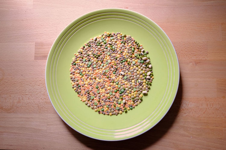 High angle view of a dish with cereals Diet Dish Vegetarian Food Biological Food Cereals Food Healthy Food High Angle View No People Nutrition