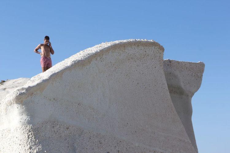 Open Edit VisitGreece Beach Landscape Man On Phone Sculpture Greece Island Nature EyeEm Nature Lover