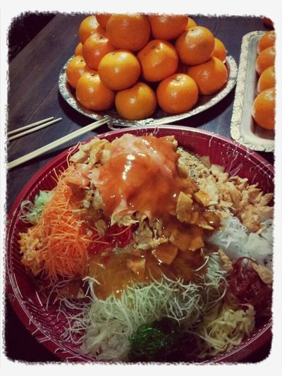 Lo Hei at Turkish Cultural Centre