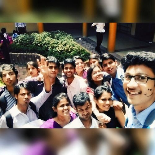 Selfie- And a memorable 1. 😍😍 Post1 Seniors Lastcollegedaydairy Lastdaypicture luckyme awesomeU goodtimes pretty smilingfaces apnadepartment missuallsomuch allthebest StayBlessed keepsmiling