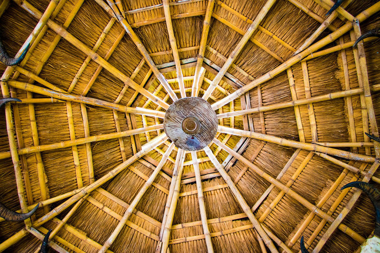 Abstract Background Bamboo Nipa Hut Nipahut Pattern Roof Stones