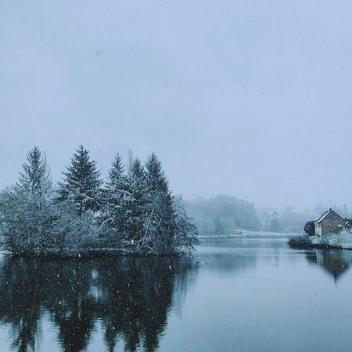Winter is coming Tree Winter Water Reflection Tranquil Scene Tranquility Nature Cold Temperature Outdoors No People Day Beauty In Nature Scenics Snow Lake Sky Shades Of Winter