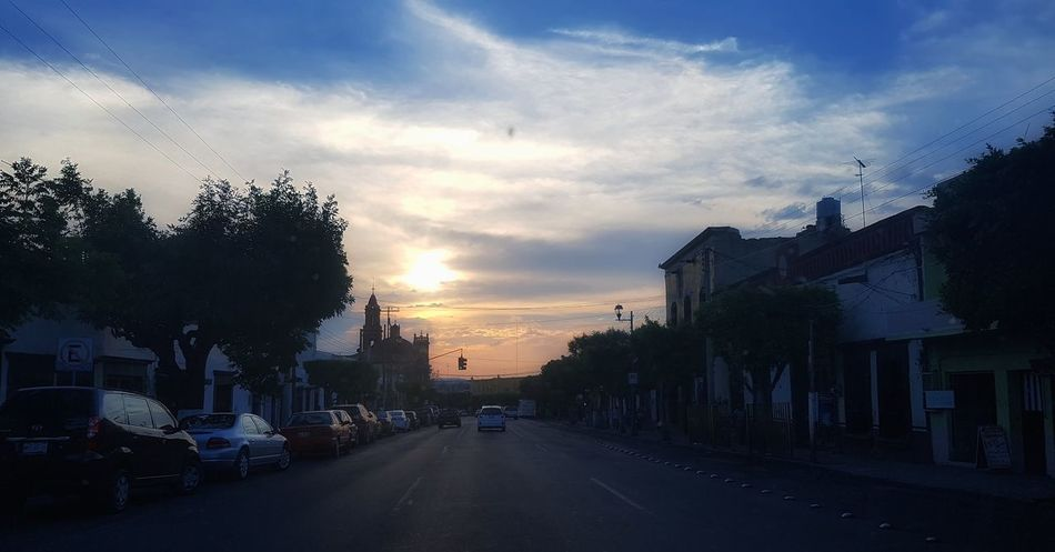 Sunset Cloud - Sky Sky City Day San Juan Del Rio Querétaro Horadeaventura  Hora Azul Atardecer