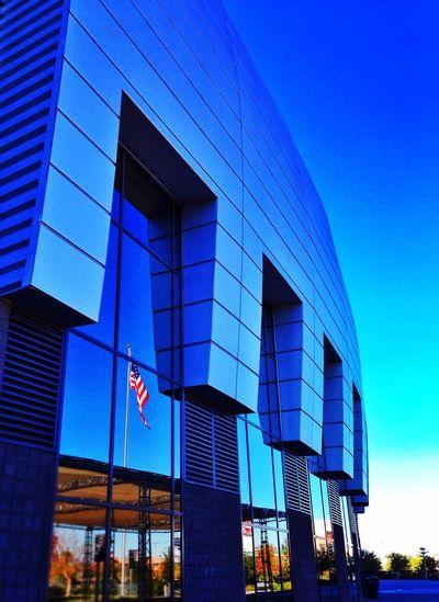 Flag USA Stadium Football Arizona Reflection