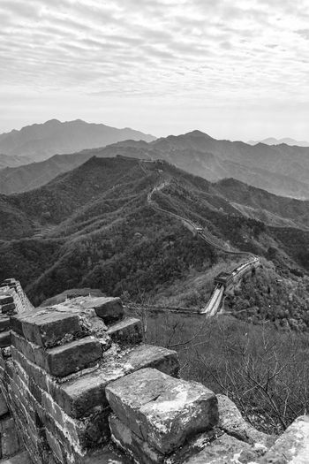Great Wall Of China Travel China Landscape Mountain Outdoors Scenics Wonder Of The World