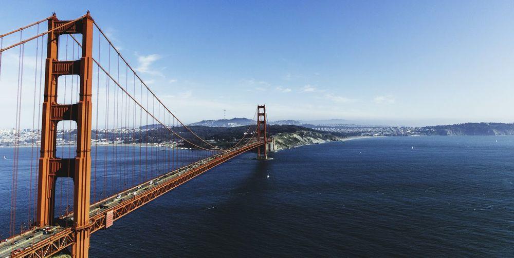 Golden Gate Bridge Over Pacific Ocean