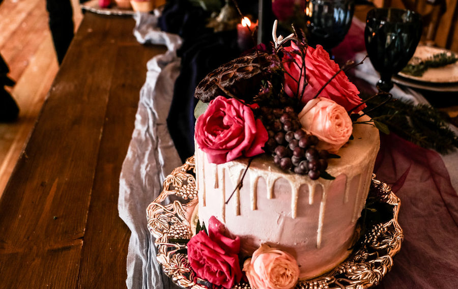 Baked Bakery Bouquet Cake Celebration Close-up Dessert Flower Arrangement Flowering Plant Focus On Foreground Food Food And Drink Freshness High Angle View Indoors  No People Red Rosé Rose - Flower Still Life Sweet Sweet Bakery Sweet Food Table Temptation