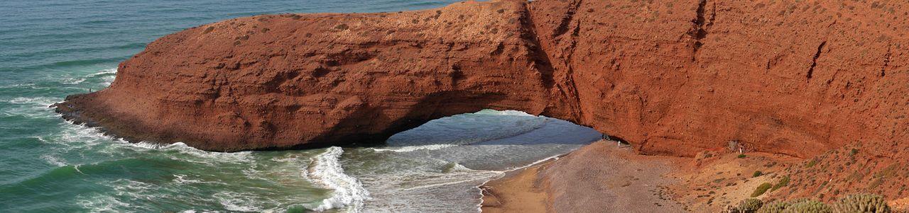 Rock formation on sea shore