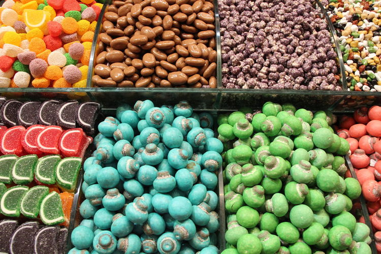Colorful Gummy and Candy Abundance Arrangement Business Choice Food Food And Drink For Sale Freshness In A Row Large Group Of Objects Market Market Stall Multi Colored No People Order Retail  Sale Temptation Variation